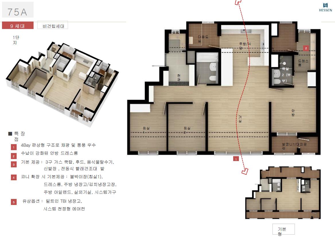 김포 센트럴 헤센 75평A